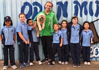 Children, Jonathon and Dog